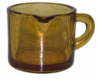 Depression Glass Transparent Amber One Cup Measuring Cup - RARE