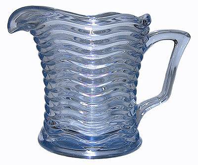 Duncan & Miller Caribbean Sapphire Blue Hard to Find 16 oz. Juice Pitcher / Jug