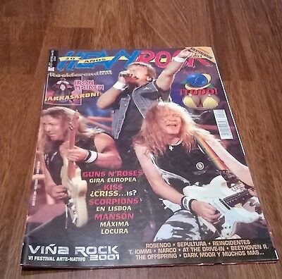 revista HEAVY ROCK 211 IRON MAIDEN GUNS AND ROSES SCORPIONS