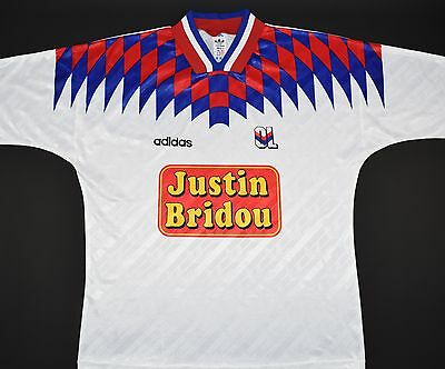 1995-1996 Lyon Adidas Home Football Shirt (Size Xl)