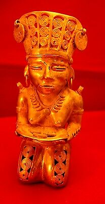 Pre-Coloombian Tumbaga  Queen Royalty Figure   Lost Wax Gold/silver/copper