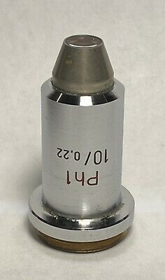 Zeiss 10/0.2 Ph1 10X Phase Contrast Microscope Objective