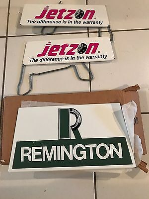 A Very Rare VINTAGE NOS REMINGTON TIRE RACK SIGN still unpacked in original box