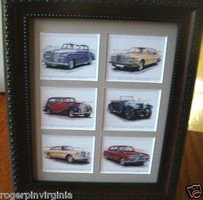 Rolls Royce - Reproduction Collectors Cards Nicely Presented In A Frame + Matte