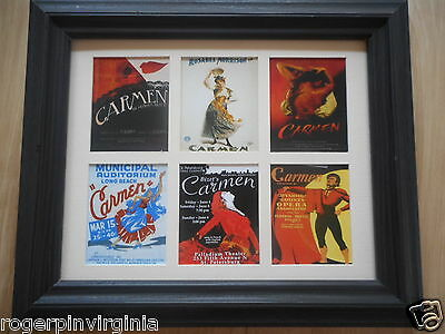 Opera -  6 Miniature Reproduction Pof Posters In Frames