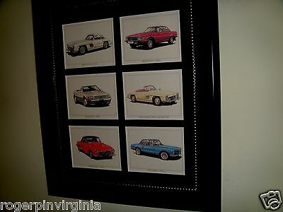 Mercedes -  6 Reproduction Miniature Pictures In Frames