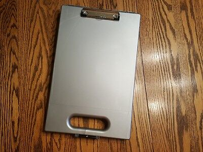 Dexas Office Clipcase Storage Clipboard, Gray Fast Shipping