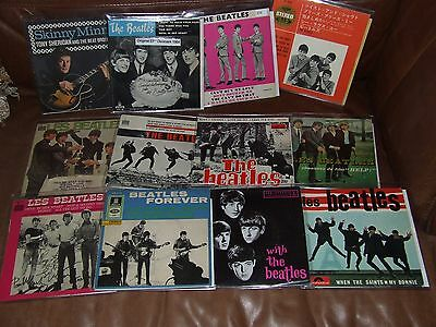 THE BEATLES = RARE COLLECTION OF 7inch IMPORT SINGLES FFECT THE PLAY