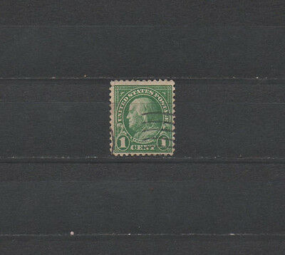 USA Briefmarke US Postage Franklin 1 Cent 1 c 594 used sehr selten VERY SCARCE