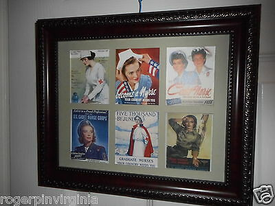 Nurses -  Recruitment Posters -  6 Miniature Pictures In Frames