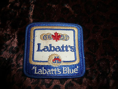 Embroidered Patch LABATT BLUE Vintage Canada Beer Labatts Call for Labatts