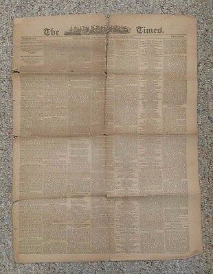 Vintage Newspaper THE TIMES PHILADELPHIA 7 5 1876  Centennial 100th 4th of July
