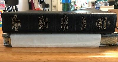 Vintage Rare Jubilee KJV Topical Reference Bible Jubilee 77L60 Genuine Leather