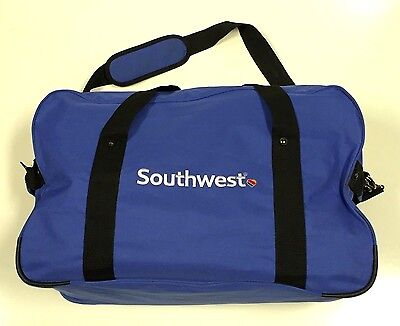 "SOUTHWEST AIRLINES Blue Soft Side Luggage Travel Duffel Bag - 23"" x 15"" x 9"""