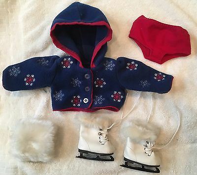 Retired American Girl Molly Ice Skating Outfit Skates Muff Jacket