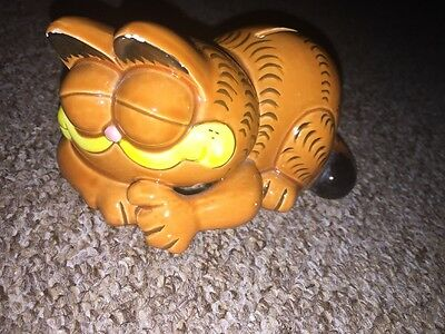GARFIELD vintage money box bank piggy jar cat cartoon comic retro ornament
