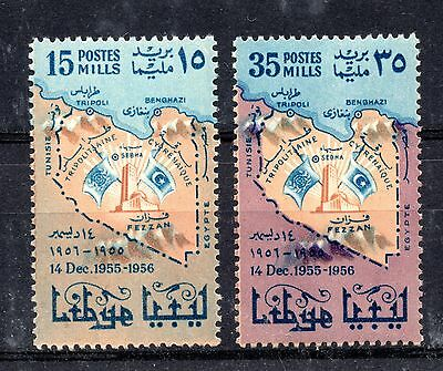Libya (1335) 1956 1st Anniv. of Admission to U.N. set  Sg229-30 Unmouted mint