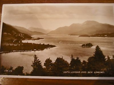 Loch Lomand and Ben Lomand.. 1930's Vintage postcard.