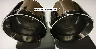 VW Golf MK6 GTI R Milltek Polished Exhaust GT100 Tails Tips Only Pair