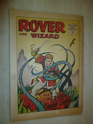 Comic- THE ROVER and WIZARD - 17th February 1968