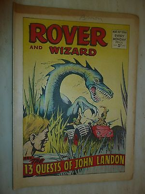 Comic- THE ROVER and WIZARD - 16th March 1968