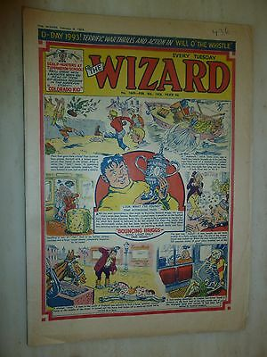 Comic- THE WIZARD - No.1669, 8th February 1958
