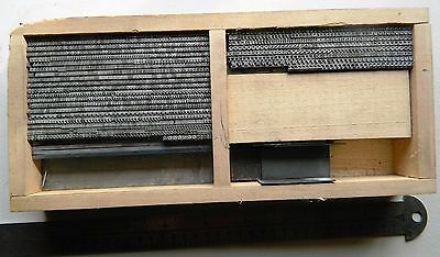 Letterpress Metal Type Cheltenham Bold Extended 8 pt Printing Printer Block Case