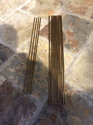 Antique Brass Stair Rods x15    No Clips