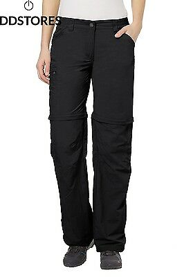 Vaude Hose Womens Farley Long Zo Pants Iv Pantalon Femme Noir Black 42Long