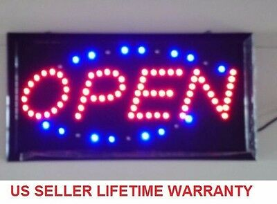T56 Bright Animated Motion Open Sign Running Neon LED Business Store Shop Chain