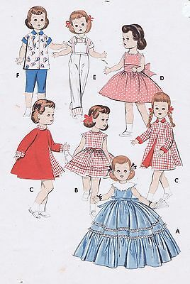 """7973 Vintage Chubby Doll Patterns - Size - 22-23"""" - Year 1959"""