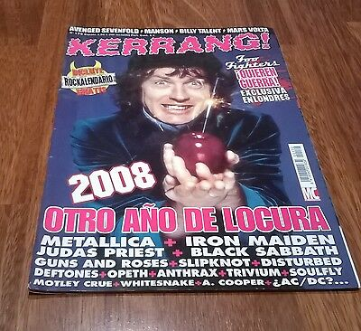 revista KERRANG 170 AC DC METALLICA IRON MAIDEN BLACK SABBATH