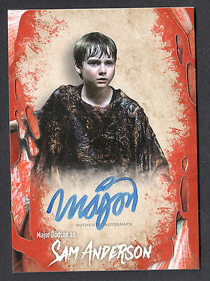 THE WALKING DEAD SURVIVAL BOX Topps AUTOGRAPH CARD by MAJOR DODSON as Sam