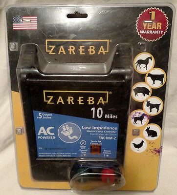 Zareba Electric Fence Charger 10-Mile *NEW*