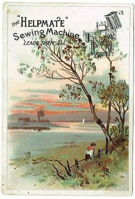 Vintage - Pittsburgh, PA - Helpmate Sewing Machine - Trade Card