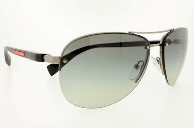 fa3133e0181 Prada Sports Sps 56 Ms 56Ms 5Av3M1 Gunmetal Gray Gradient Authentic New  Sunglass