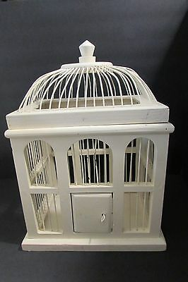 "Vintage Wire and Wood Bird House  15"" Tall Garden Decor"