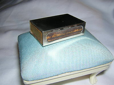 Vintage CARTIER Sterling Silver Match Box Cover Case ~ No Monograms + Matches