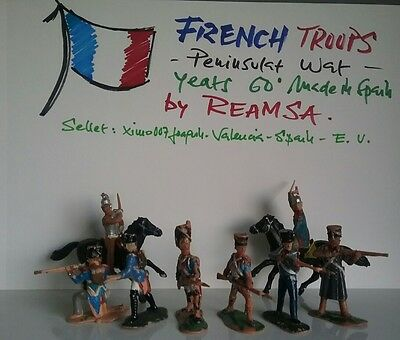 REAMSA Napoleonic wars -  French Army  toy soldier '60 made in Spain.