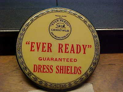CA San Francisco  Ever Ready Dress Shields Celluloid Advertising Pocket Mirror