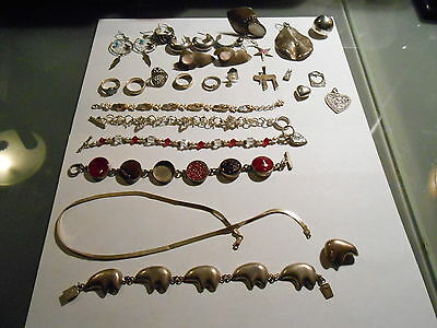 Large Lot Of Sterling Jewelry/ Scrap, Or Not.