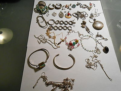 Big Lot Of Sterling Silver Jewelry/ Scrap, Or Not.