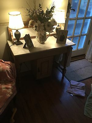 Antique Pine And Marble Washstand