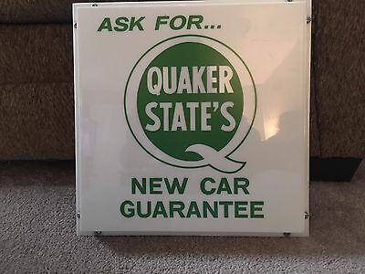 Quaker State Lighted Sign