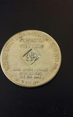 2-Year Narcotics Anonymous NA ©WSO  1991 Series Token Sobriety