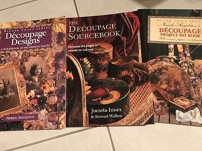 4 x Decoupage Card Making Scraps Images Graphics Paper Crafts Art Books