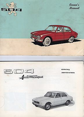 Peugeot 504 Owner's Manual / 504 Automatique Driving Particulars Manual