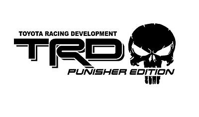 TRUCK CAR DECAL -TRD Punisher EDITION alternate - Vinyl
