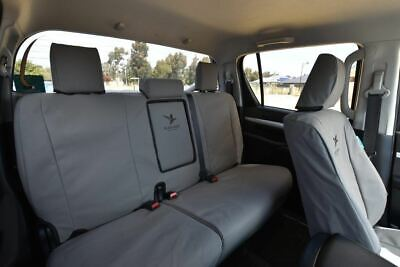 Black Duck Ford Ranger PXII Canvas Rear Bench Seat Cover Dual Cab