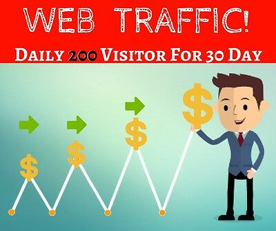 Daily 200 Worldwide Direct Webs Traffic For 30 Days package of 6,000